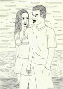 Dibujos de parejas recien casados