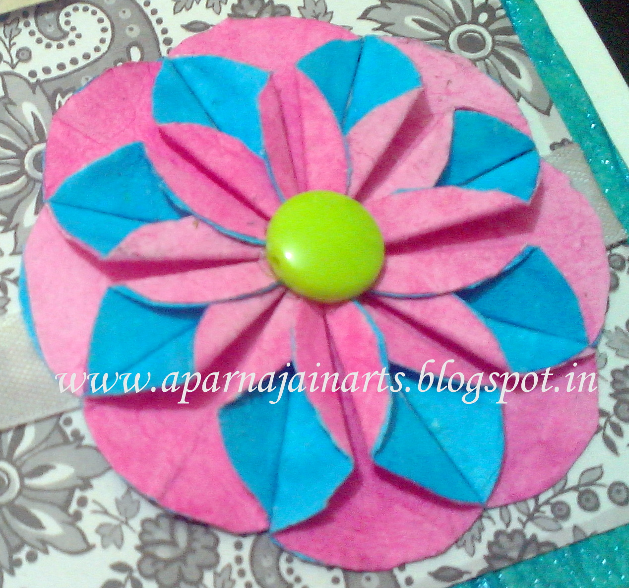 The crafty world pankh arts paper flower from circles paper flowers have been made from small circles cut out of paper and hence the name easy to make and very beautiful to decorate your greeting cards or kristyandbryce Gallery