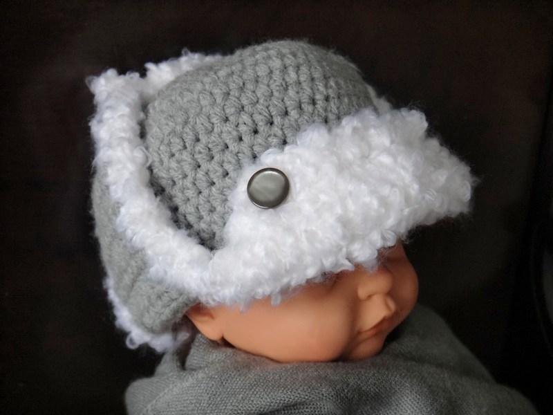 Grandma Swills  Handcrafted Knits  Russian Ushanka Crochet Baby Hat 1e44df3bcba