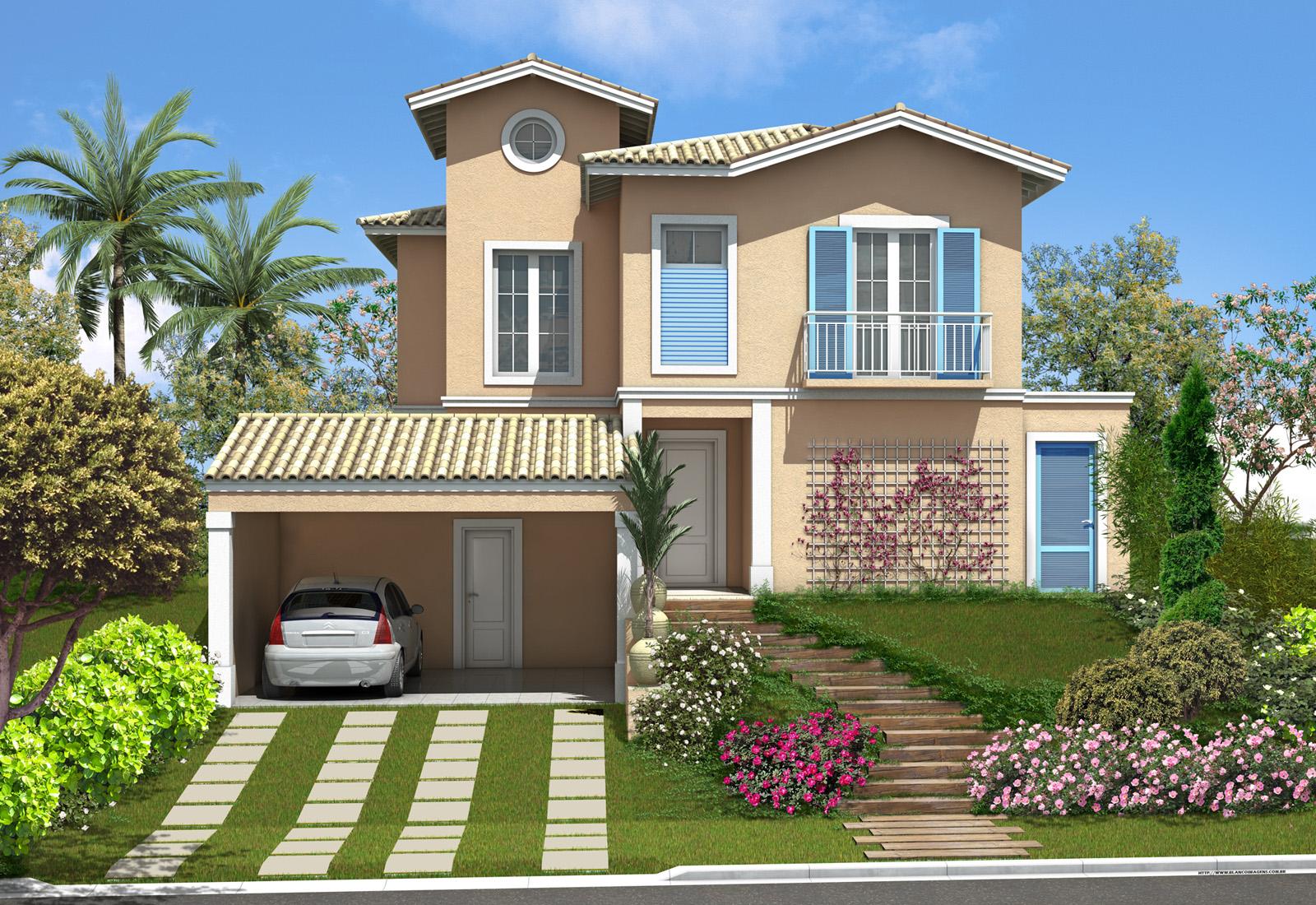A fachada da sua casa emile m veis for Planos de casas lindas
