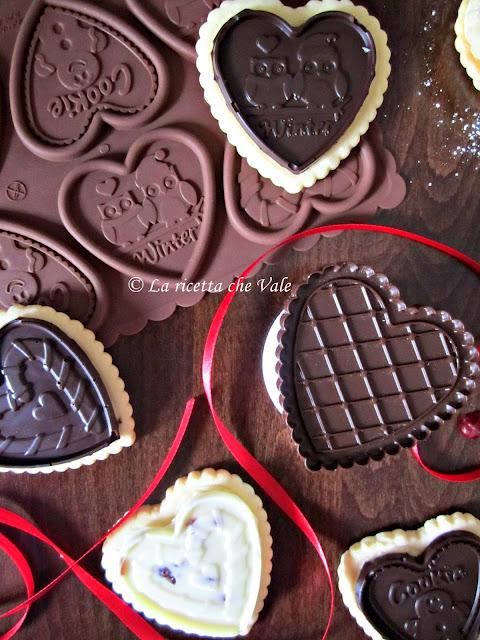 cookie choc al cioccolato fondente, bianco e frutti rossi
