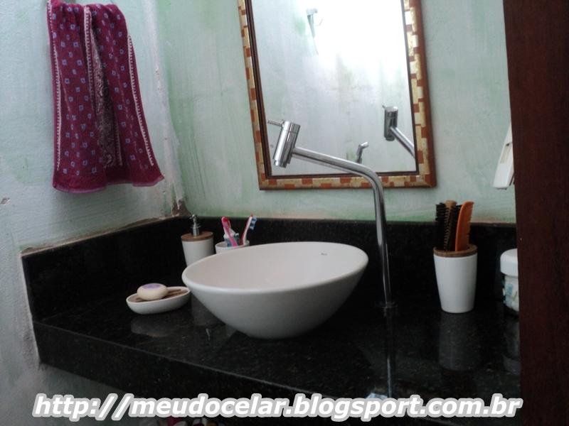 meu doce lar  Meu banheiro -> Banheiro Pequeno Com Espelho Ate O Teto