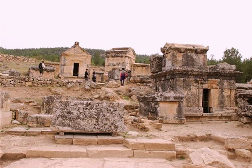 Ancient graves under restoration at Hierapolis