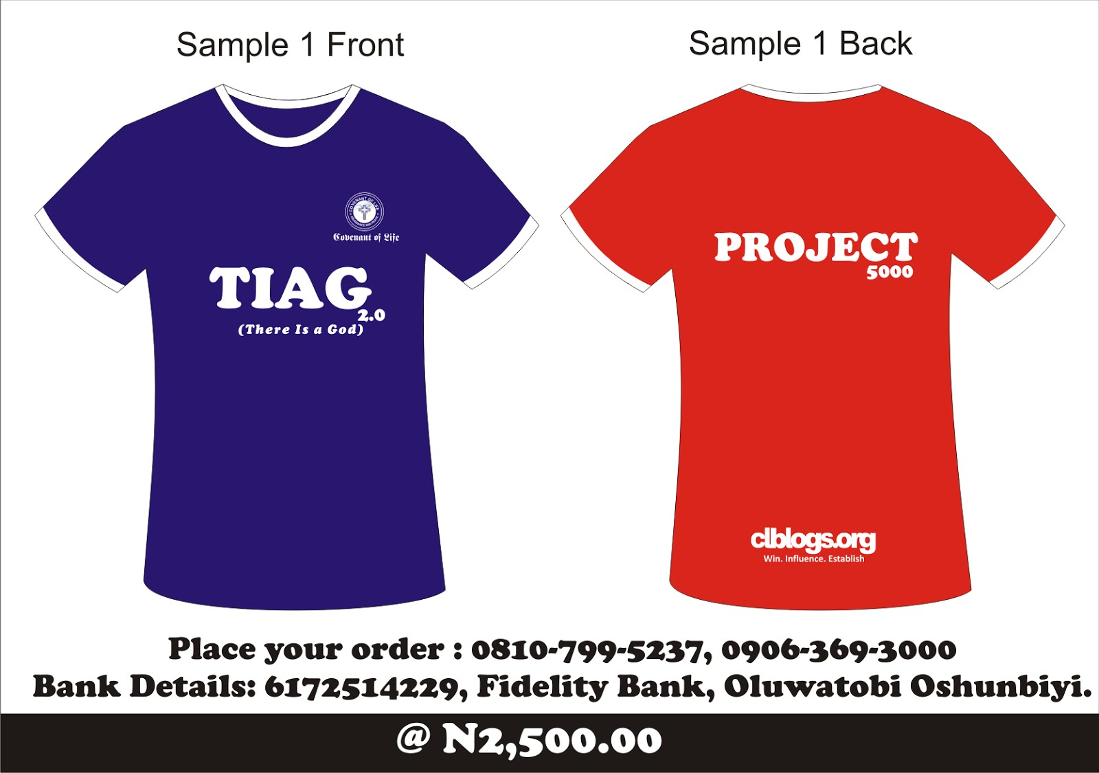 Buy Your PROJECT-5000 T-shirt at our Next Meeting