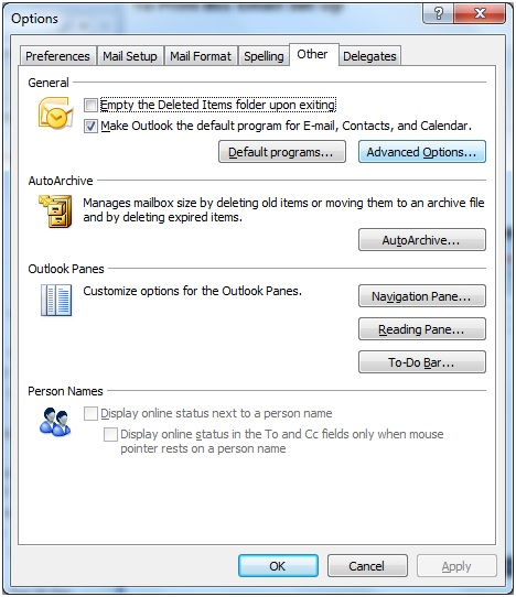 how to delete the outlook 2010 profile and recreate it