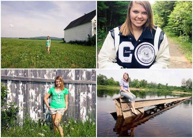 senior girl standing by a barn