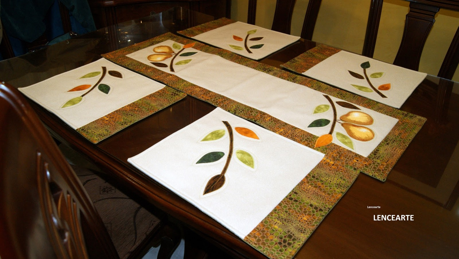lencearte individuales y caminos de mesa placemats and