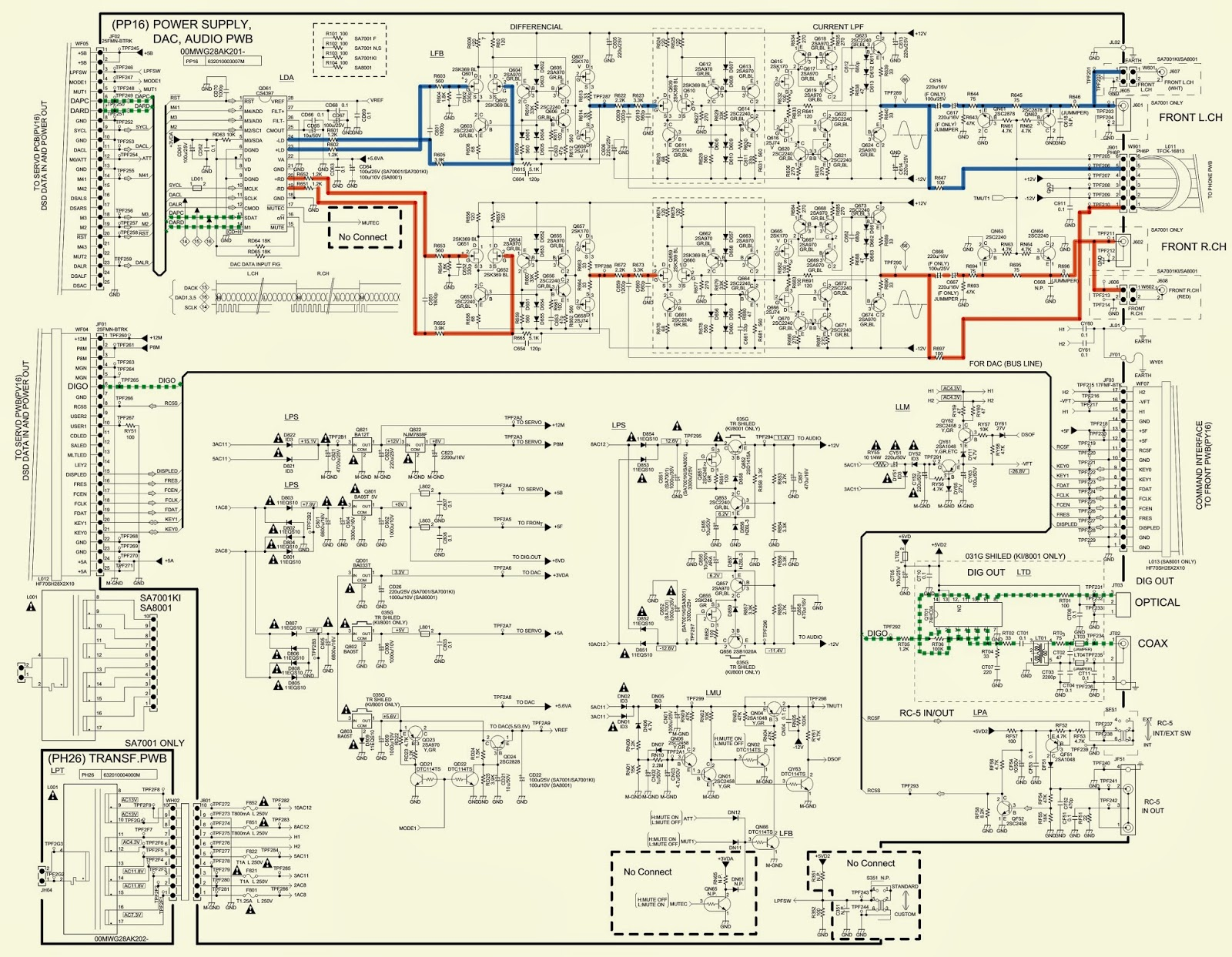 MARANTZ - SA7001 - SCHEMATIC - (Circuit Diagram) - SUPER AUDIO CD ...