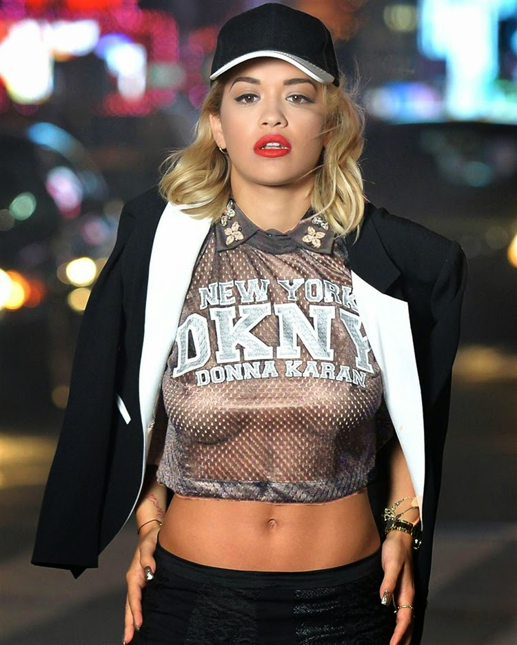 Rita Ora Finds New Ways to Look Sexy in Shooting for DKNY in New York