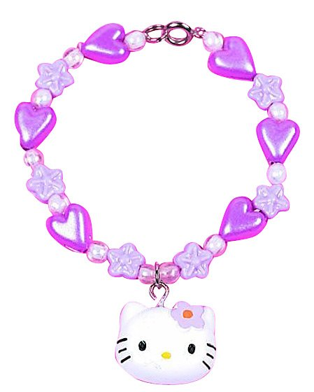 Image of Flower Charm Hello Kitty Bracelet