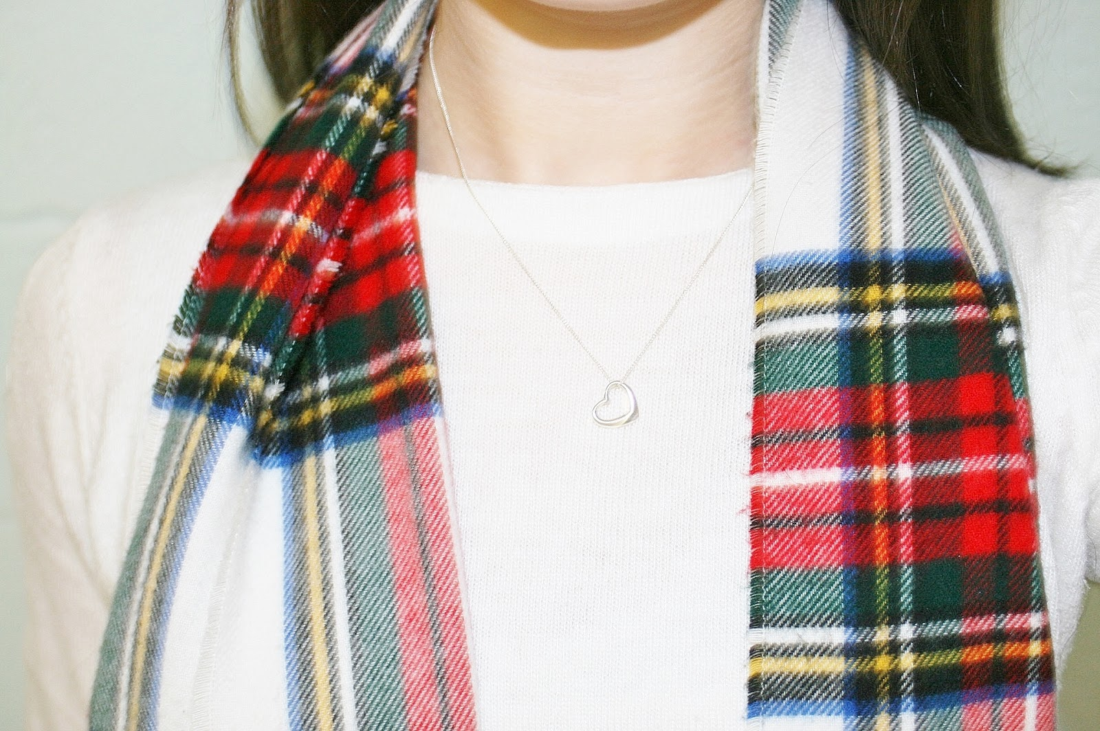 Katherine Penney Chic Fashion Style Tartan Jumper Knit Silver Jewellery
