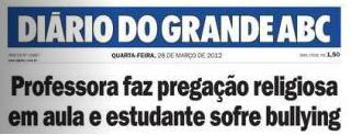 Diário do Grande ABC dá notícia sobre bullying