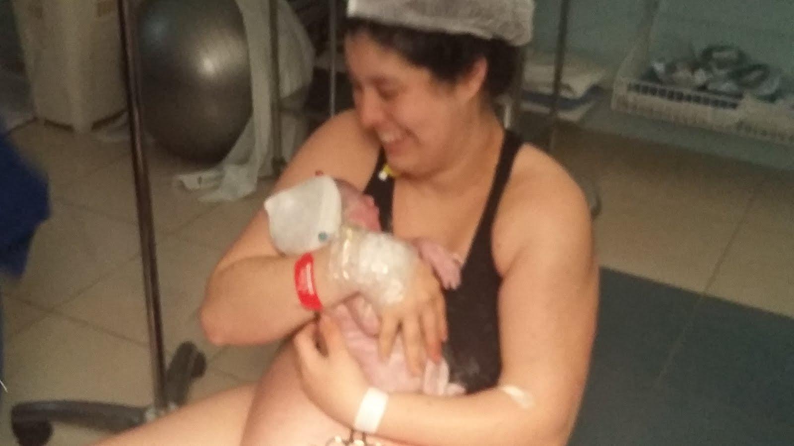 Giovanna nasceu em um intenso parto humanizado no dia 18/08
