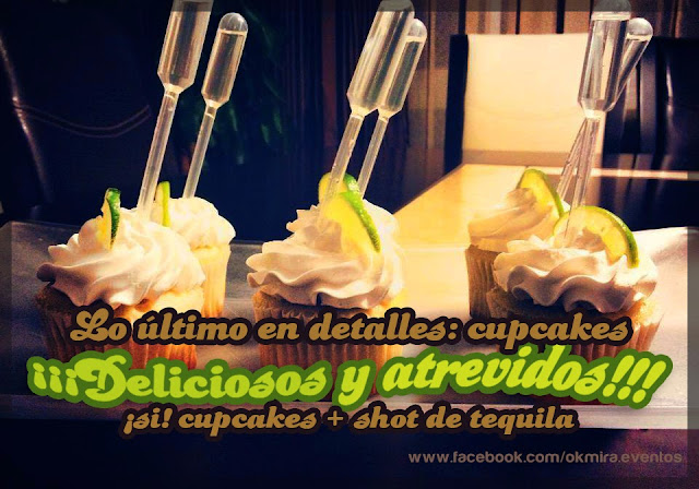 cupcakes con shot de tequila Don Julio