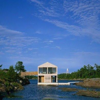 Floating homes delivering best water views oddetorium - Floating prefabricated home ...