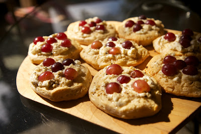 Mama Ozzy's Table: Goat Cheese and Honey Danish with Red Grapes