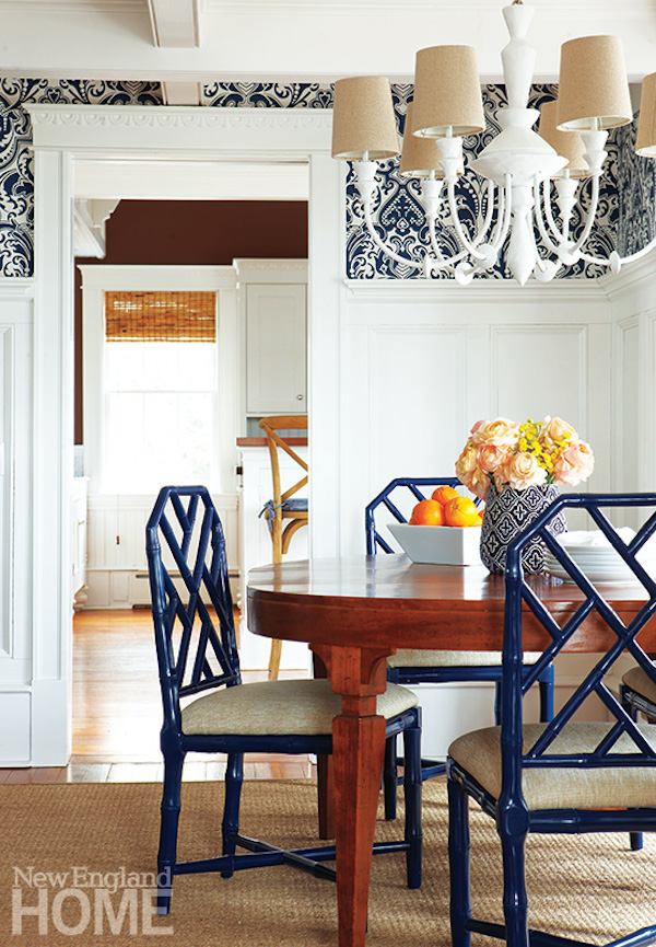 Chinoiserie chic the chinese chippendale chair for New england dining room ideas