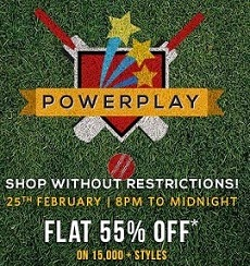 Flat 55% Off on Clothing, Footwear + Extra 30% Off @ Myntra