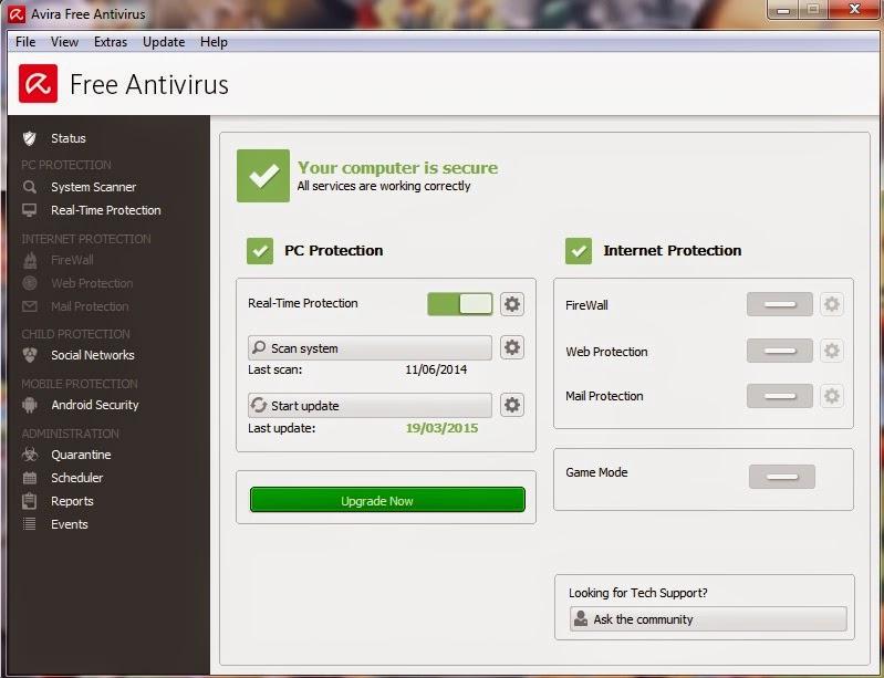 Free Avira Antivirus yang Handal