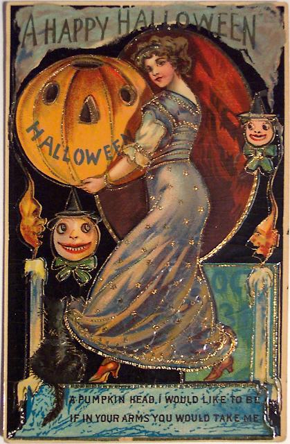 victorian halloween postcards the decophile. Black Bedroom Furniture Sets. Home Design Ideas