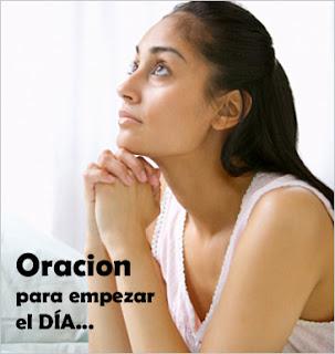 Oracion para empezar el día