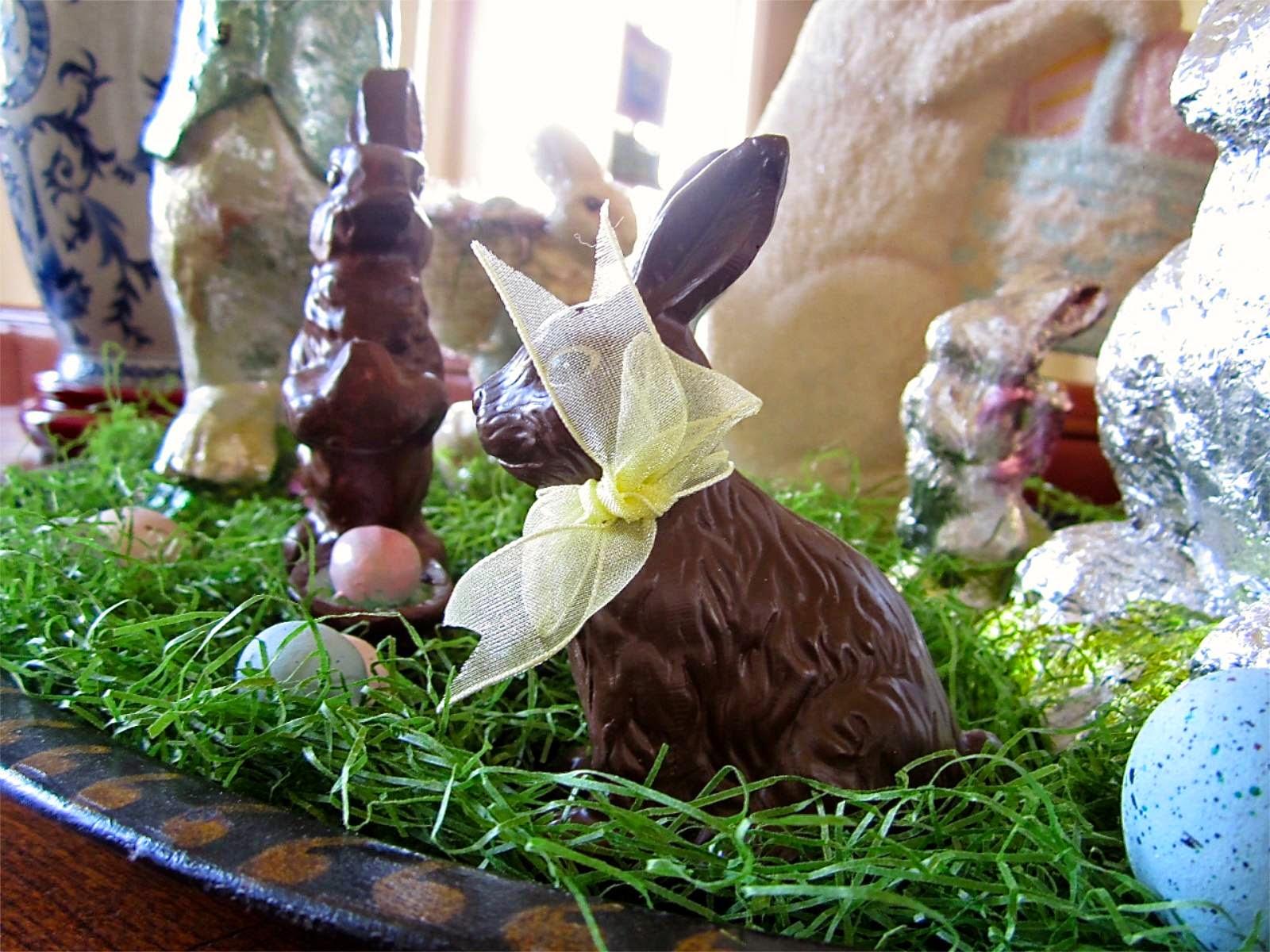 chocolate bunny display
