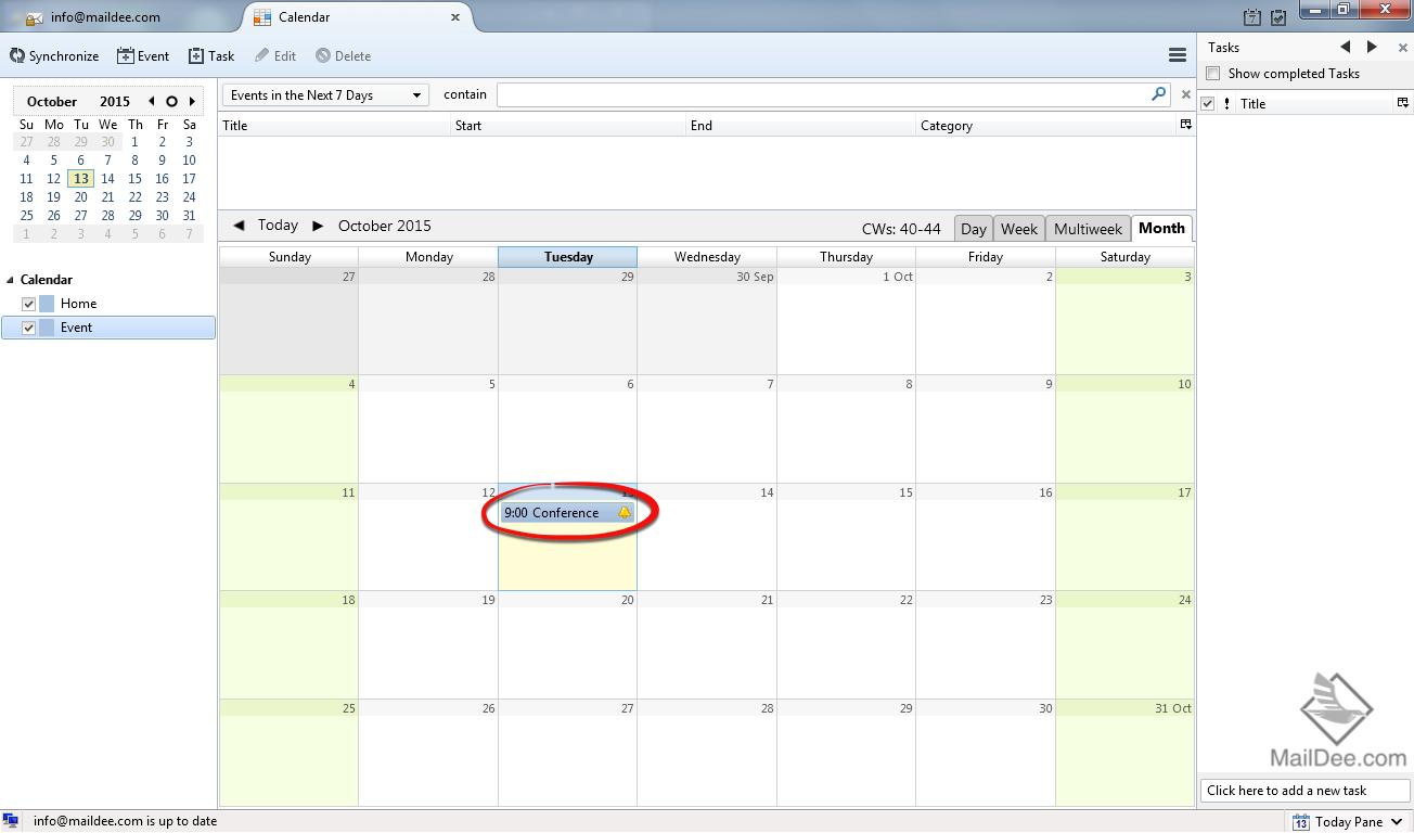 Calendar Repeat : Technology land co ltd thunderbird การตั้งค่า event
