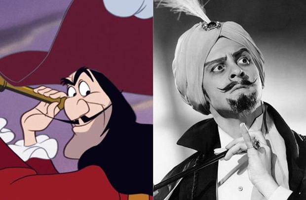 Os personagens da Disney na vida real - Capitão Gancho – Hans Conried