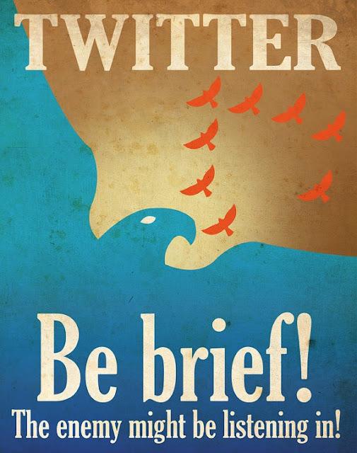Social media propaganda posters from designer Aaron Wood
