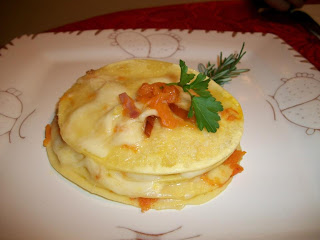 lasagne tonde zucca provola e speck