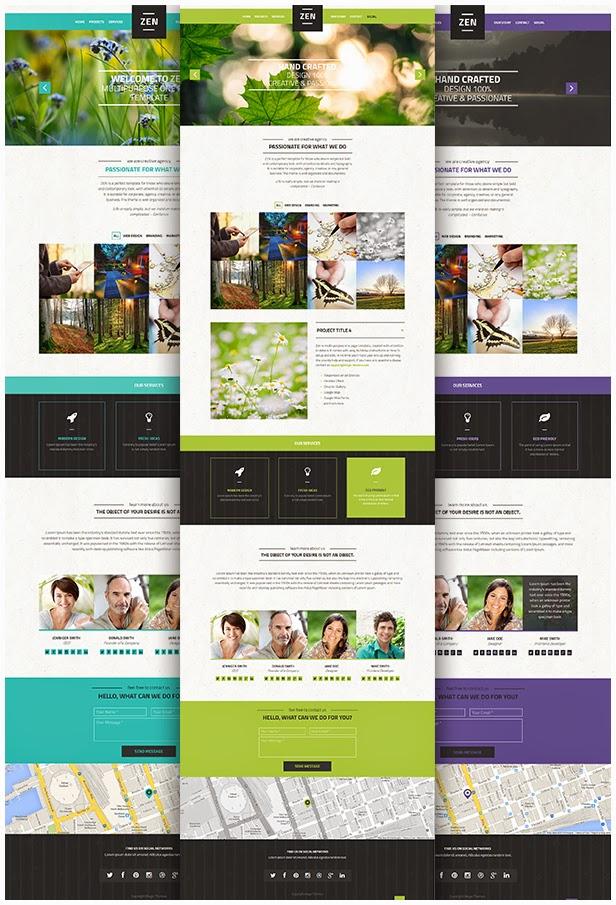 free onepage wp theme