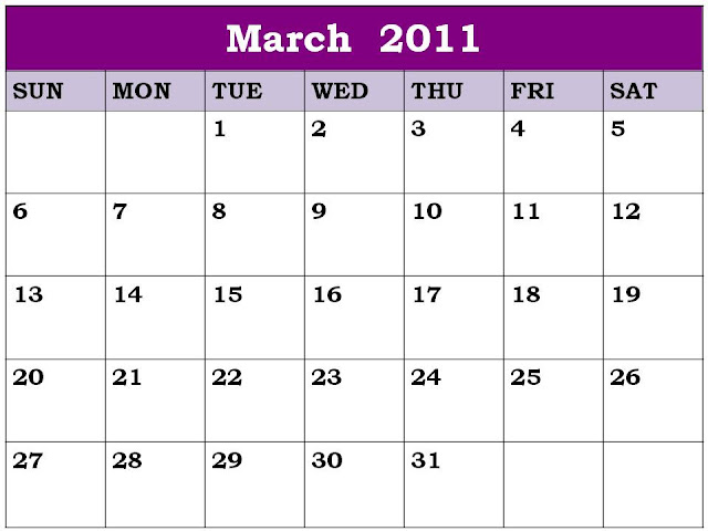 free printable calendars march 2011. free printable calendars march