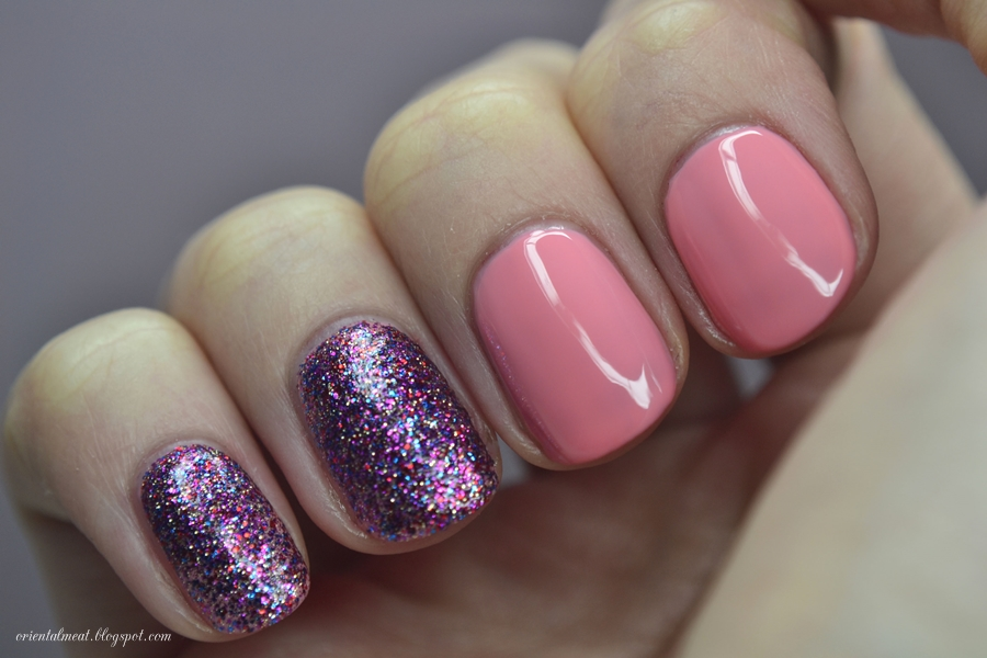 Orly-Cotton Candy & Sally Hansen Rockstar pink