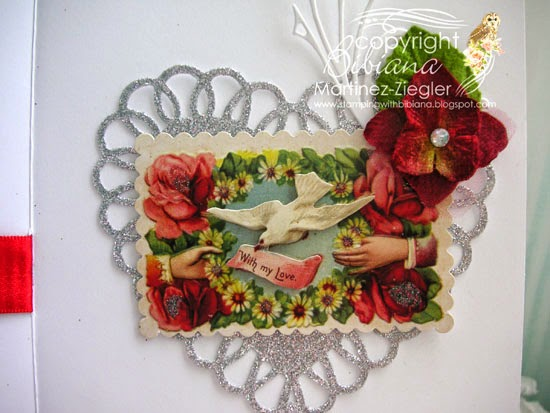 valentine's vintage cherubs with petaloo inside