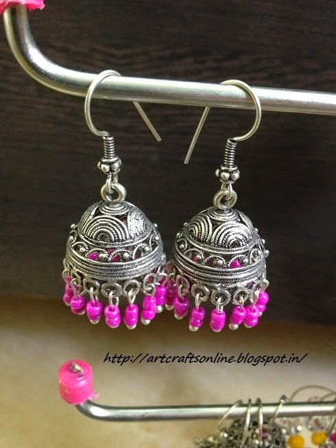 jhumka chandleir earrings