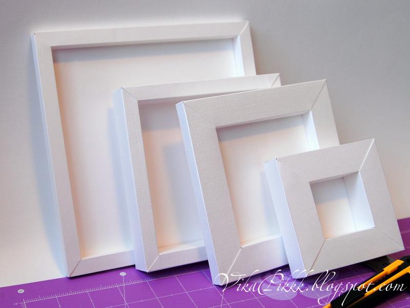 Объемная рамка для фото из картона своими руками