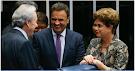 O diálogo por trás da foto em que Aécio ri ao lado de Dilma e Lewandowski