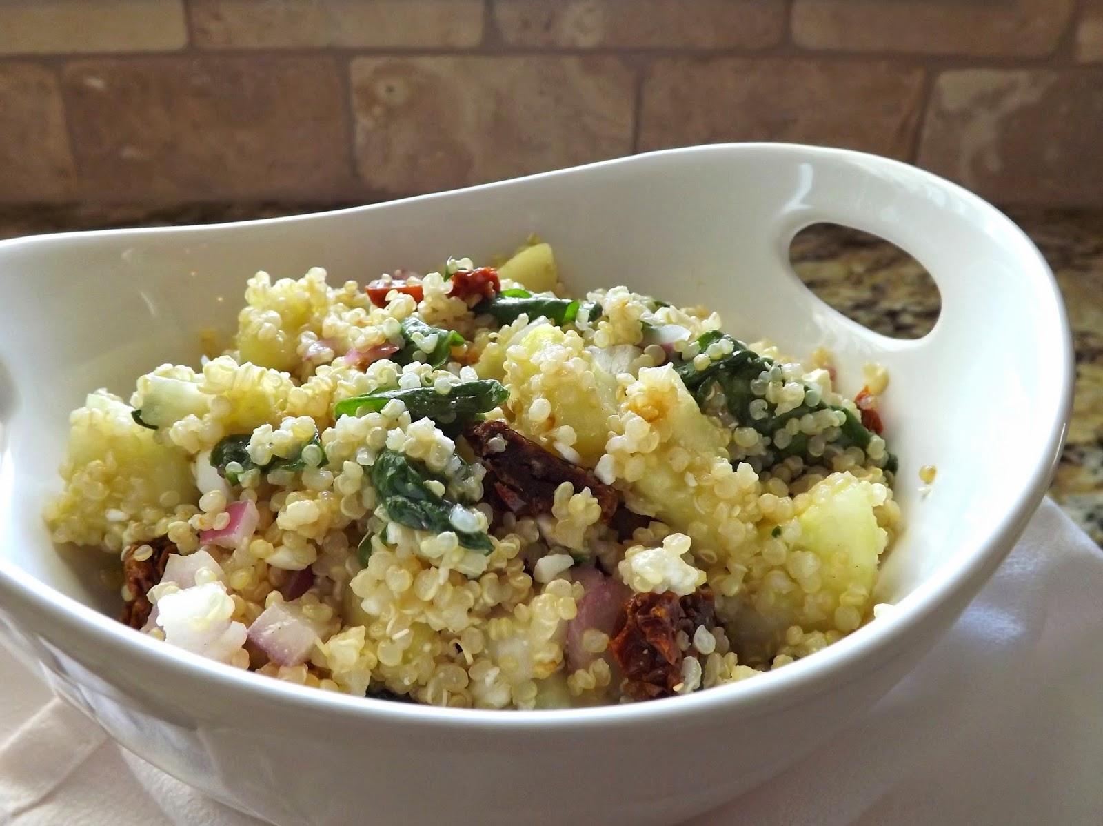 The Bake-Off Flunkie: Spinach, Feta & Sundried Tomato Quinoa Salad