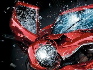 kecelakaan beruntun di jalan utama purwakarta
