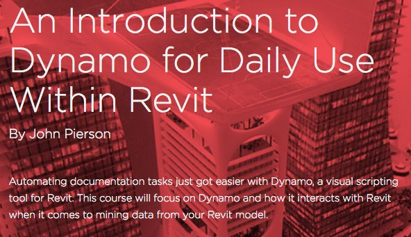 #dynamoForDailyUse available through Pluralsight