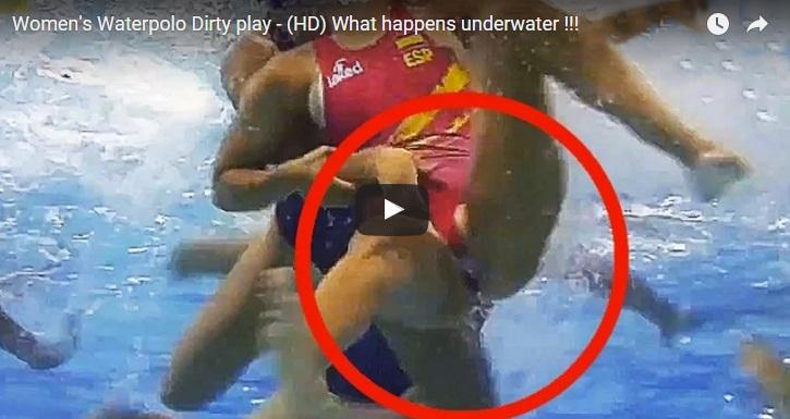 Το... βρώμικο παιχνίδι στο πόλο γυναικών κάτω απ' το νερό (video)