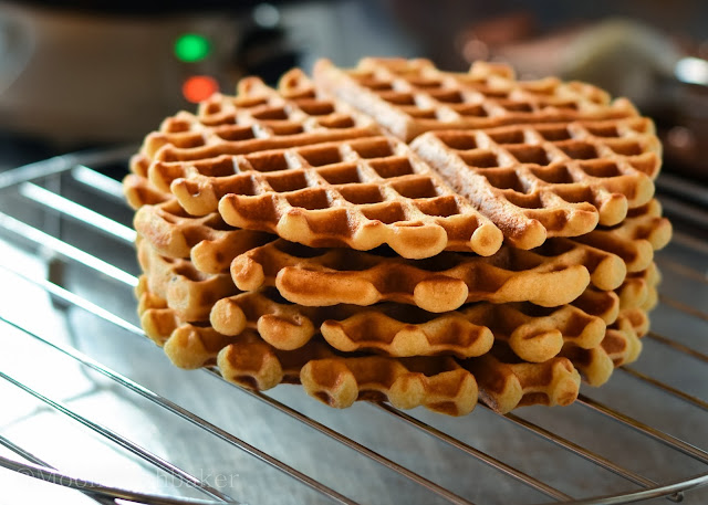 Waffling/-/ Brown butter yeasted waffles | The moonblush Baker