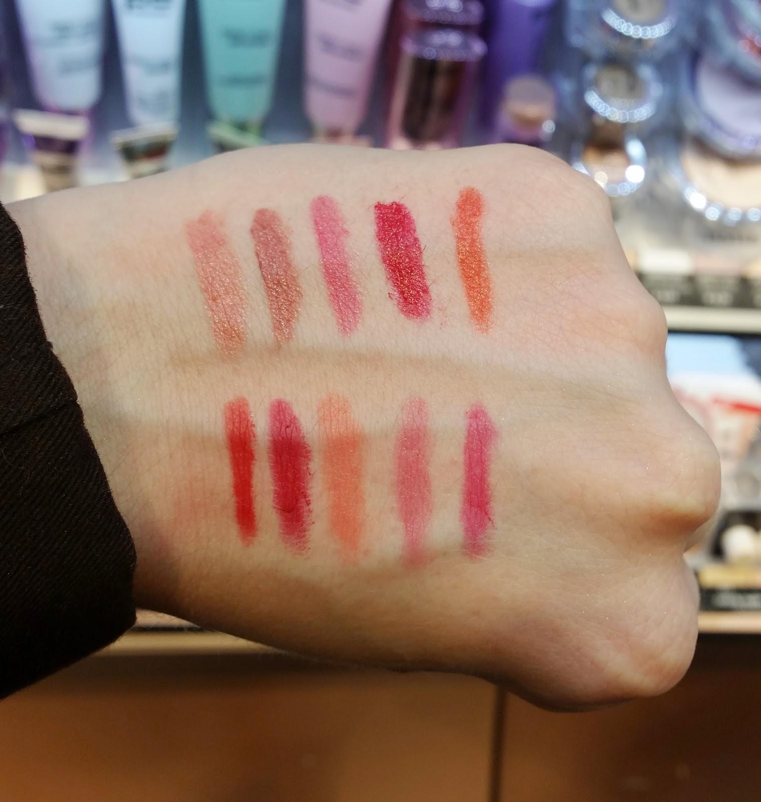 long-lasting matte maxi lipstick/ long-lasting shine maxi lipstick, Swatch