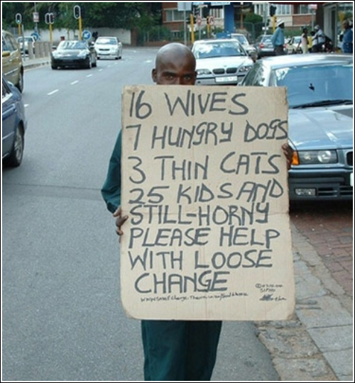 Funny Pictures Homeless Bum Signs