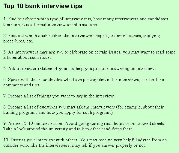 example interview questions