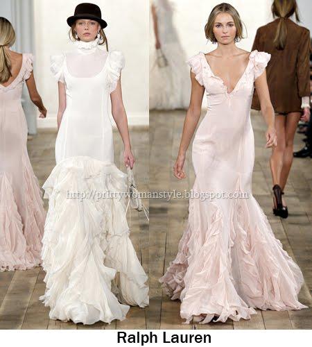 дълги рокли с волани