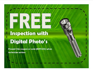 Coupon for free inspection.  Portland pest control