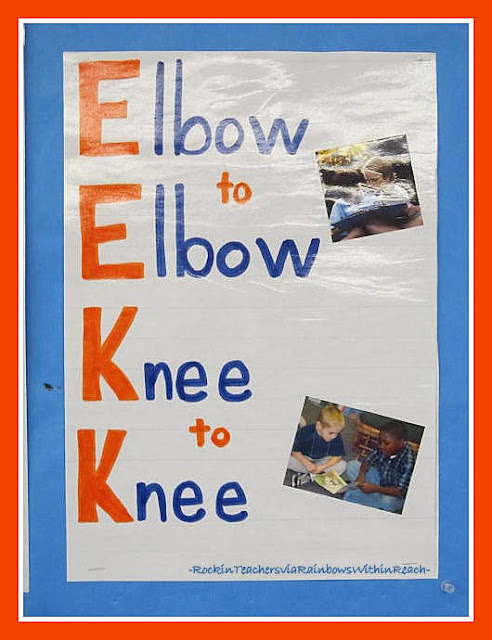 photo of: Elbow to Elbow, Knee to Knee with Photos (Rockin' Teaching Materials via RainbowsWithinReach)