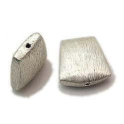 Incomparable sterling silver brushed beads