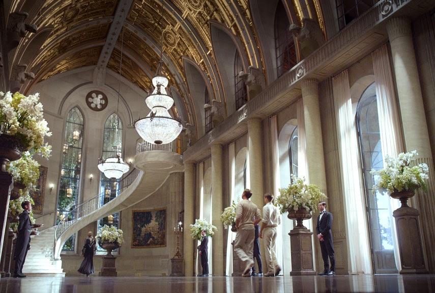 Stunning art deco set design of the great gatsby movie interiors